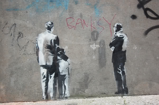 BANKSY in Toronto, west side of Market St and the Esplanade