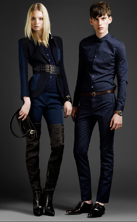 Thigh-high boots!!!! With a cropped, fitted jacket none the less.